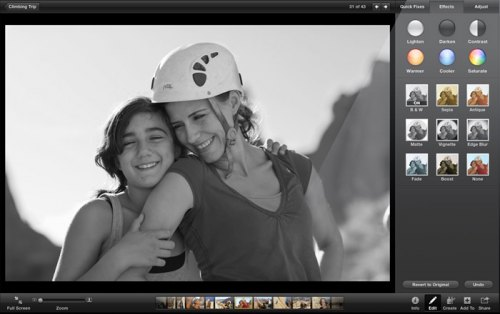 Edition retouche photos iPhoto