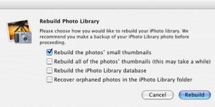 iPhoto ou comment reconstruire le cache pour les vignettes ou photos manquantes
