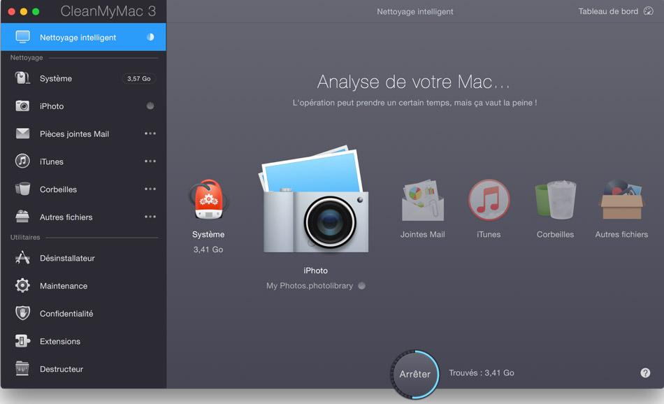 Analyse mac photos espace disque