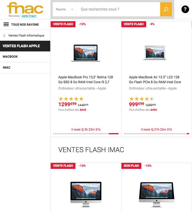Achat mac moins cher promo macbook réduction reconditionné iMac macbookpro