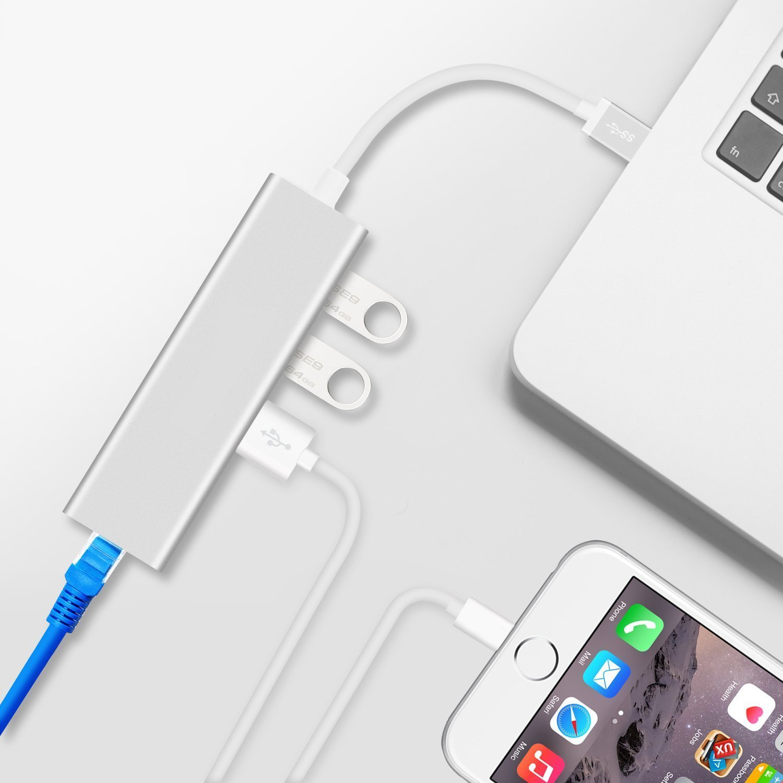 Hub USB 3 3 ports Ethernet