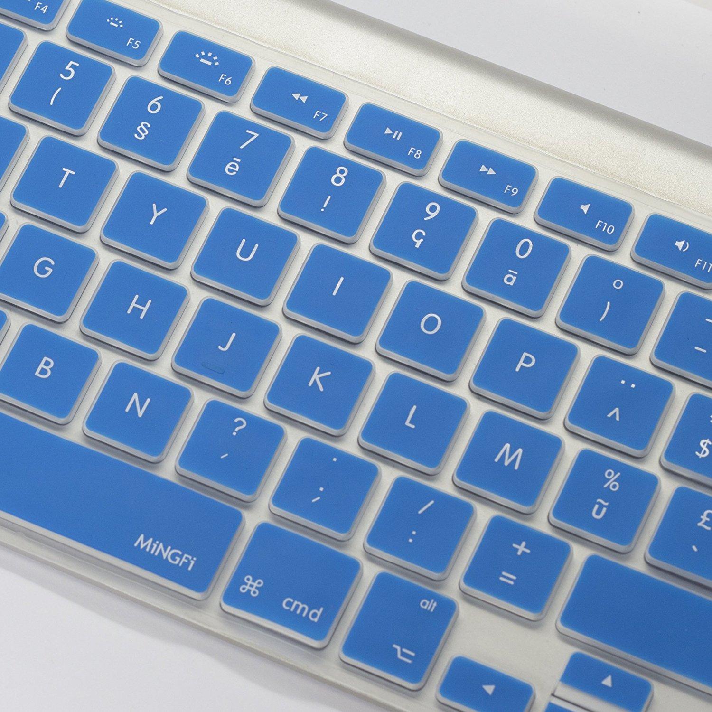 Protection macbookair macbookpro silicone clavier bleu