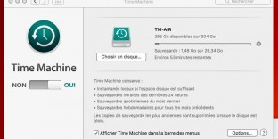 solution timemachine bloque sauvegarde impossible