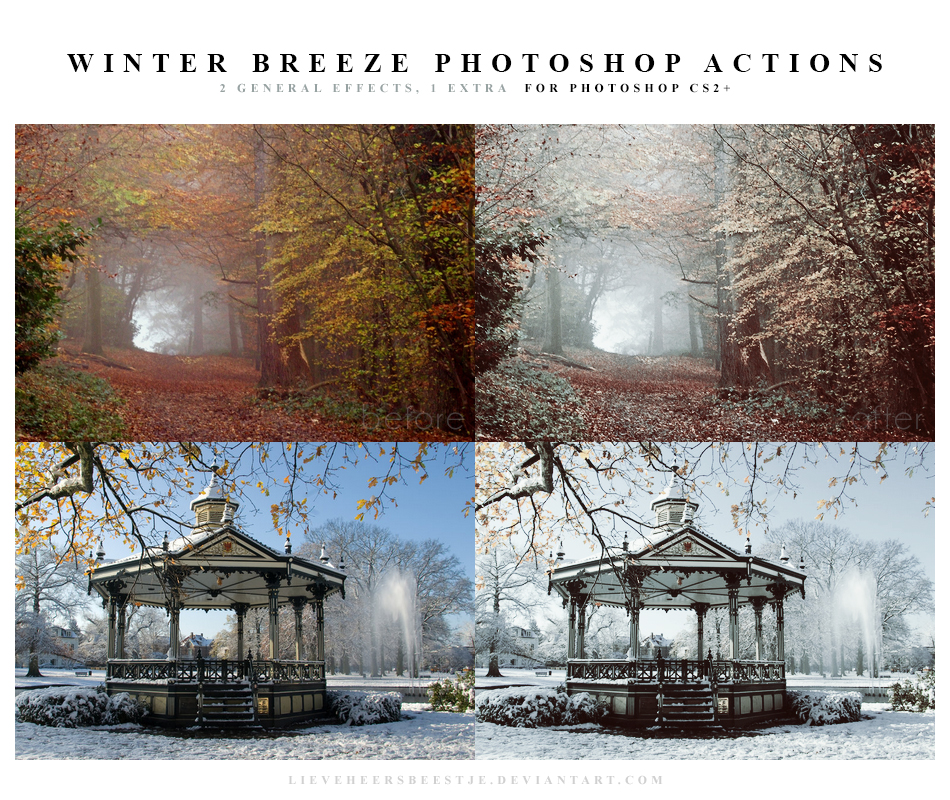 Photoshop effet colorimétrie script winter_breeze_actions