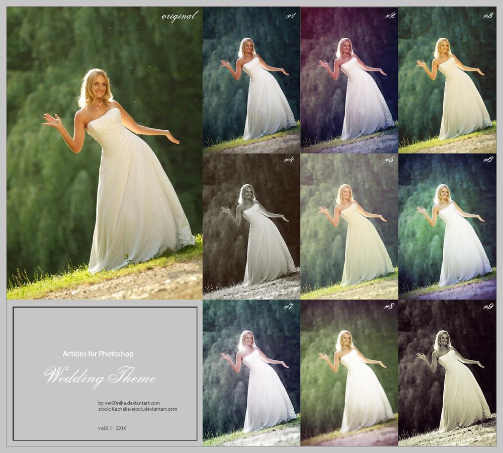 Retouche photos mariage photographe scripts effets