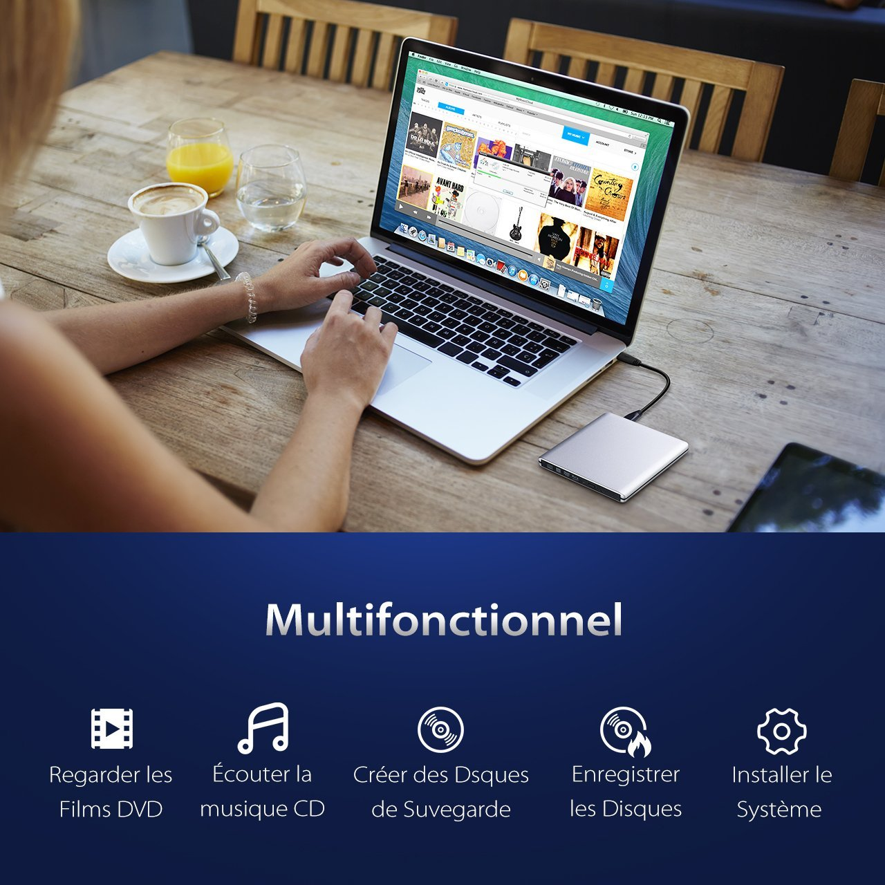 Lecteur bluray graveur BluRay mac externe