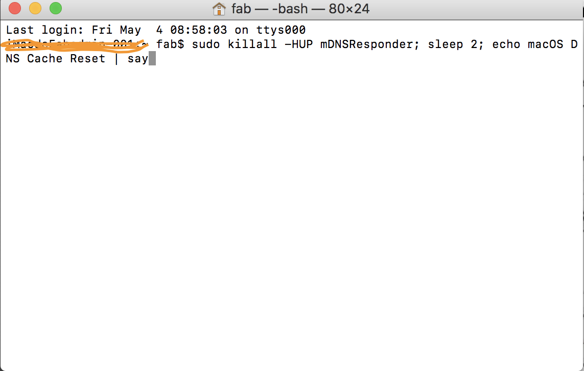Solution vider cache DNS mac navigateur internet