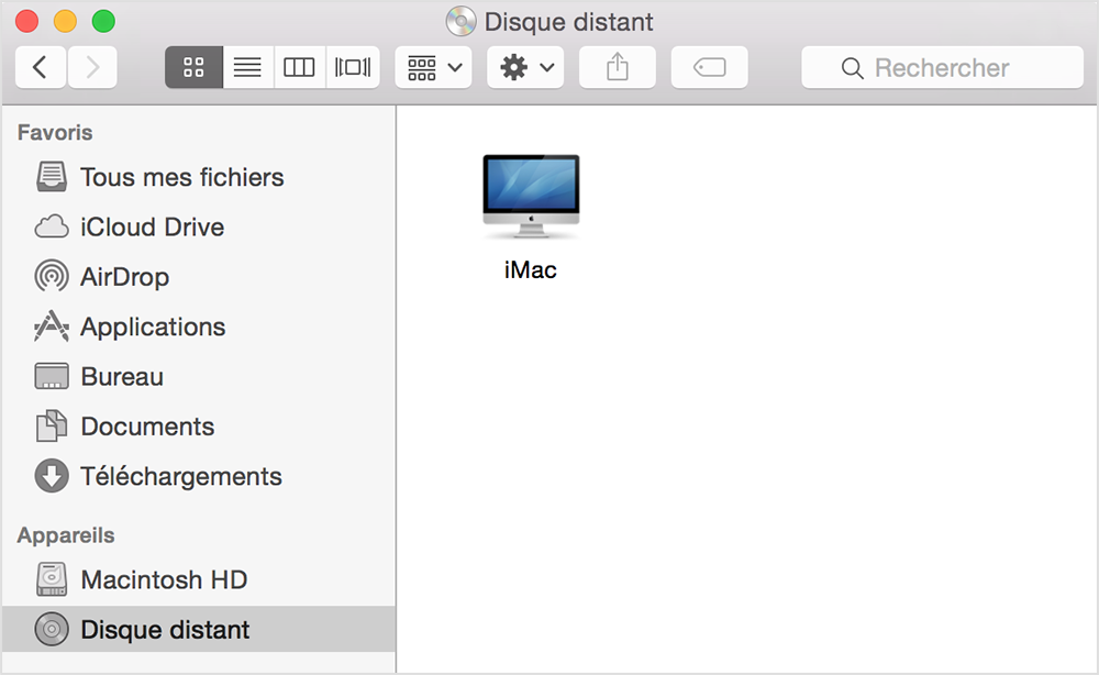 Finder solution suppression disque distant mac