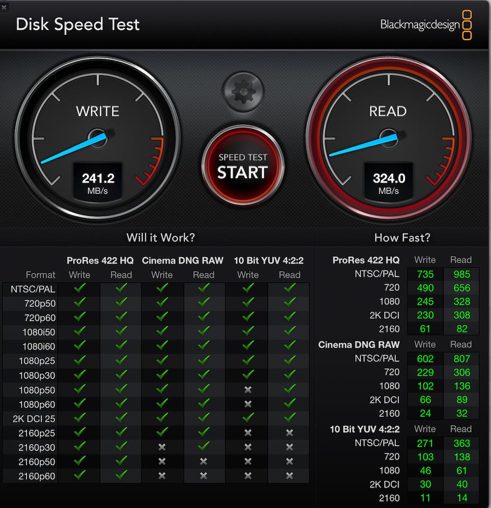 mac test rapidité disque SSD gratuit
