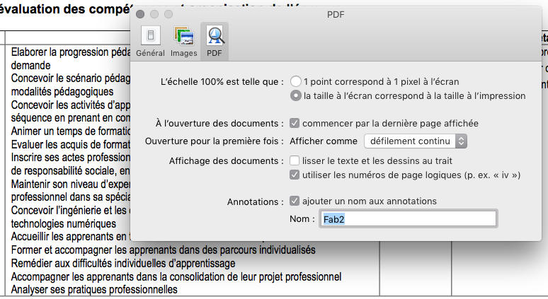 Aperçu pdf mac solution lissage texte flou