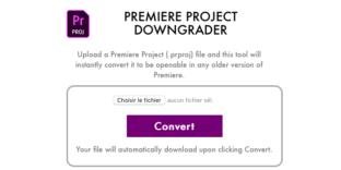 Solution ouvrir projet premiere pro cc version ancienne