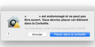 Solution comment réparer application corrompue mac