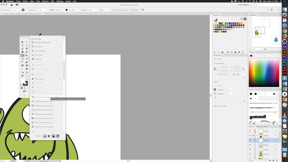 illustrator cc barre outils personnalisee