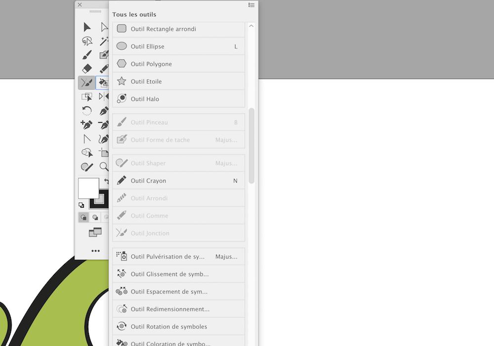 Illustrator comment personnaliser barre outils