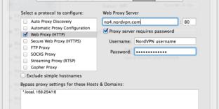 Paramétrage vpn proxy safari