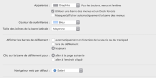 solution afficher barres defilement mac os calatina mojave tablette graphique
