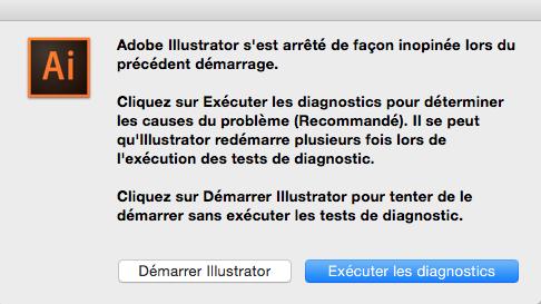 Illustrator CC crash démarrage mac solution
