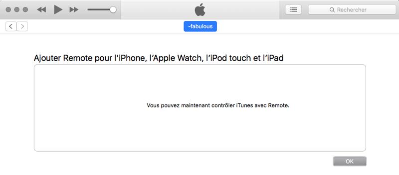 Etape finale validation connexion mac iPhone