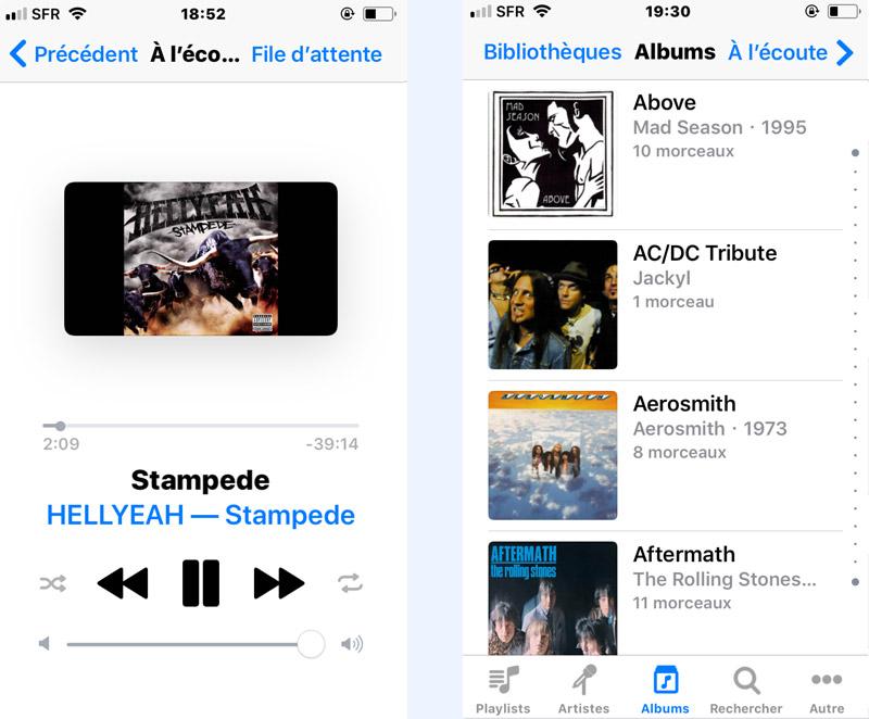 macBook solution iTunes télécommande albums musique