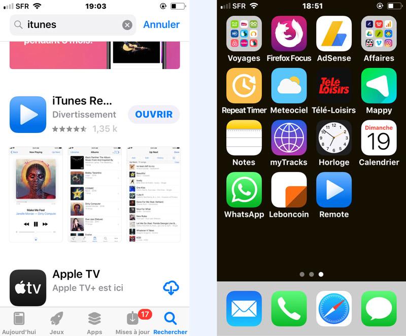 Solution iPhone télécommande iTunes iPad macbook iMac