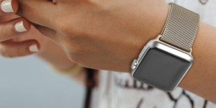 Bracelet femme AppleWatch 5 acier