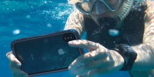 Coque iphoneXS étanche mer piscine