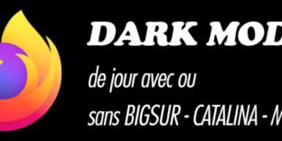 Solution darkmode firefox jour high-sierra bigsur