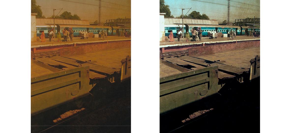 Avant après réparation couleur photographie argentique