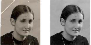 Ancienne photo d'identité restaurateur photographe