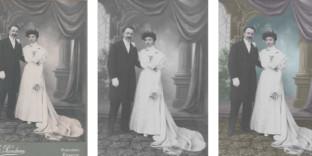 Coloriste photographie mariage ancienne retoucheur