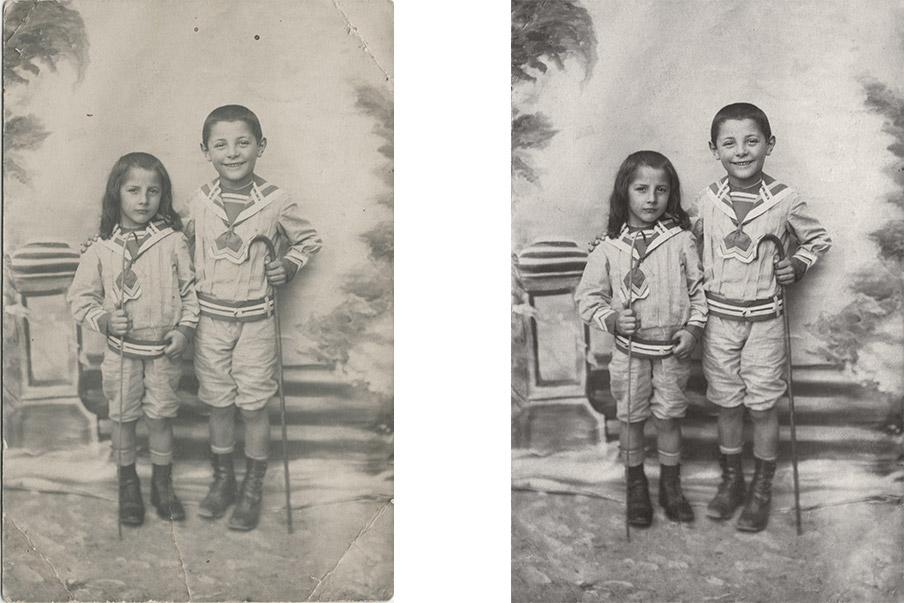 ENFANTS ARBRE GÉNÉALOGIQUE PHOTOS ABÎMÉES