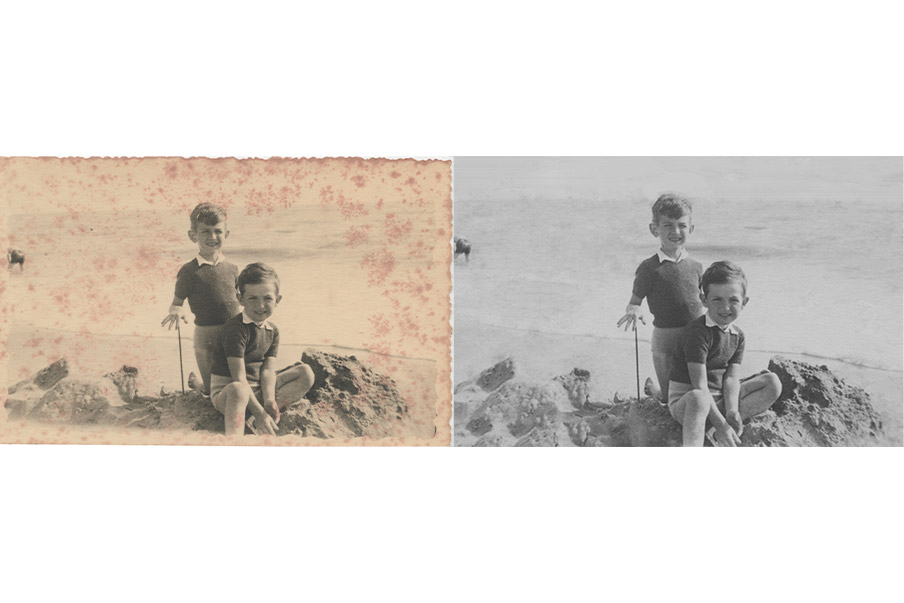 PHOTOS FAMILLE TACHÉES MOISISSURES