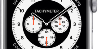 Promo applewatch modèle blanc tachymètre