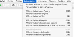 Solution SAFARI problème plein-écran barre navigation