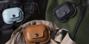 Etui de protection rangement en cuir airpodpro