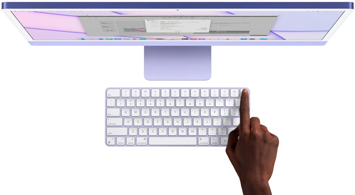 iMac 24 2021 magicKeyboard touchID