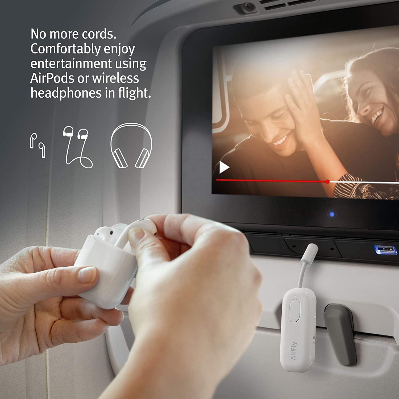 Solution utiliser airpodspro écran avion films