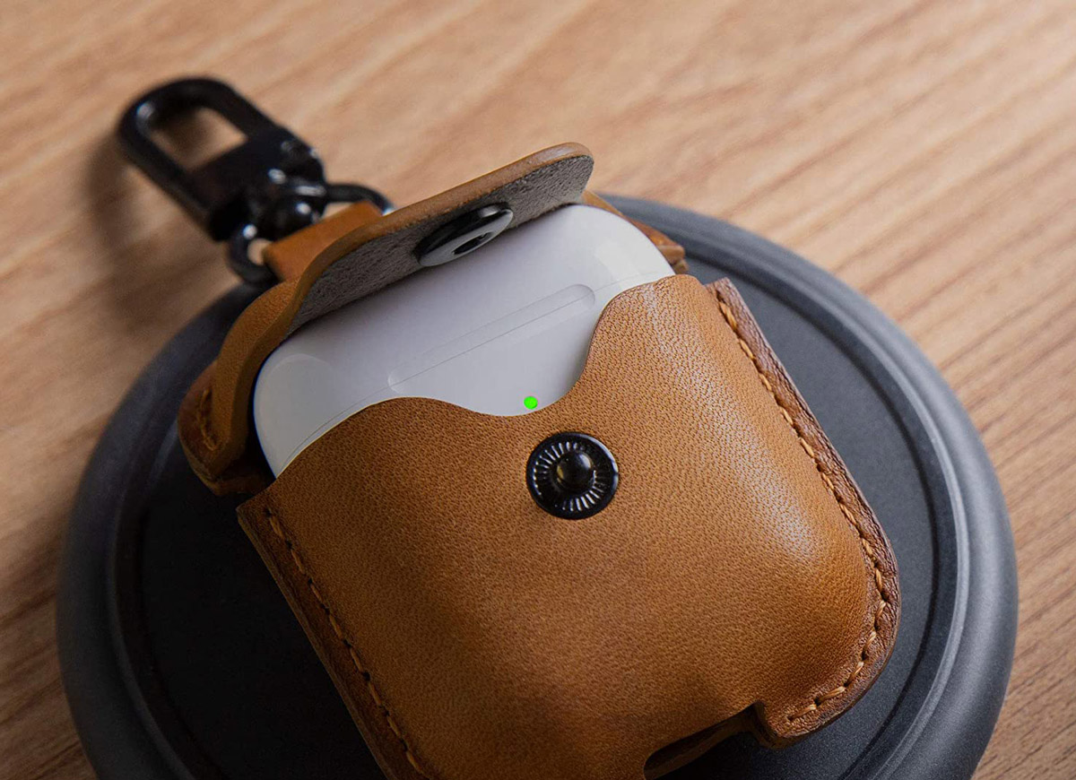 Etui cuir boitier recharge AIRPODS