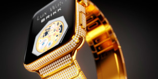 Modèle applewatch or diamants