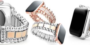 Montre bijoux applewatch or acier