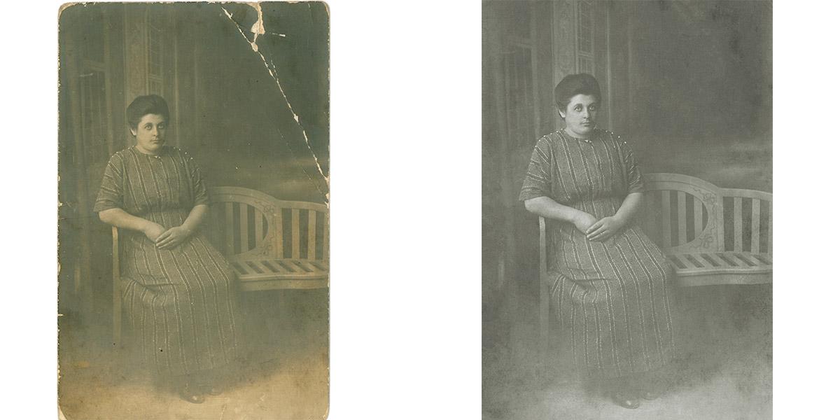 Restauration photos 1900 mois juin
