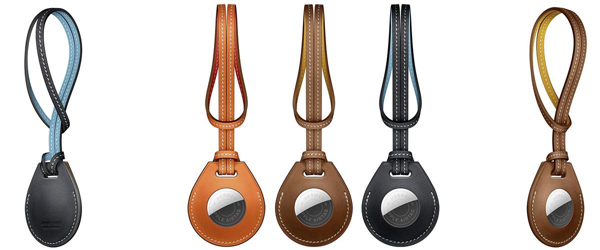Sangles airtag luxe Hermès