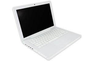 Premier Apple macbook blanc