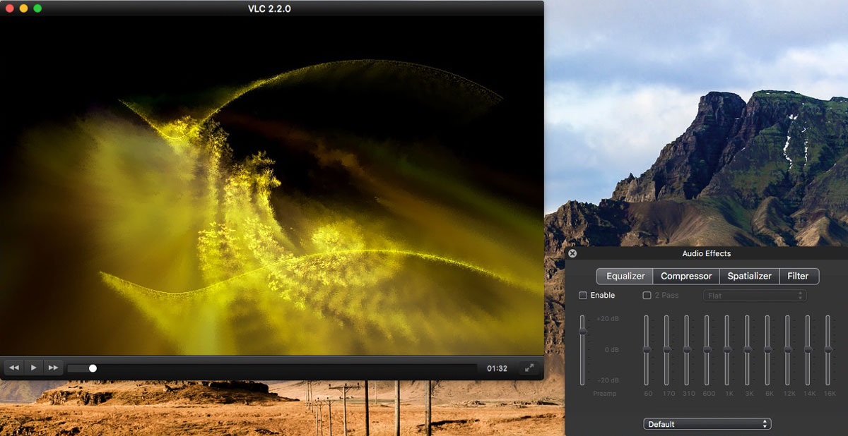 VLC solution TouchBar films vidéos